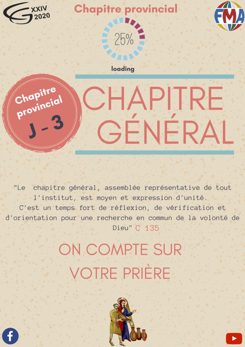 J-3 Chapitre provincial : Mais pourquoi on organise un Chapitre Provincial ?